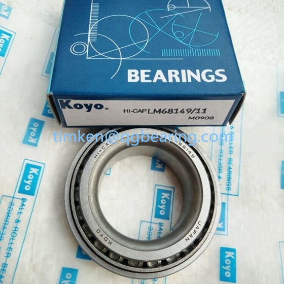 Koyo L68149/11 tapered roller bearing inch size
